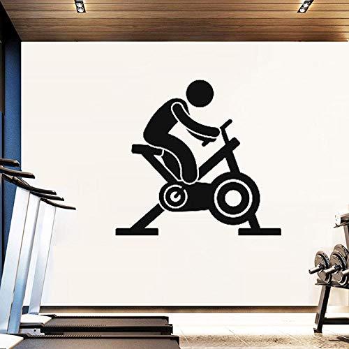KDSMFA Cinta de correr Etiqueta de la pared Gimnasio Tatuajes de pared Arte de la aptitud Mural Decoración deportiva Decoración para correr Ejercicio Papel tapiz Cartel Impermeable 57x60cm