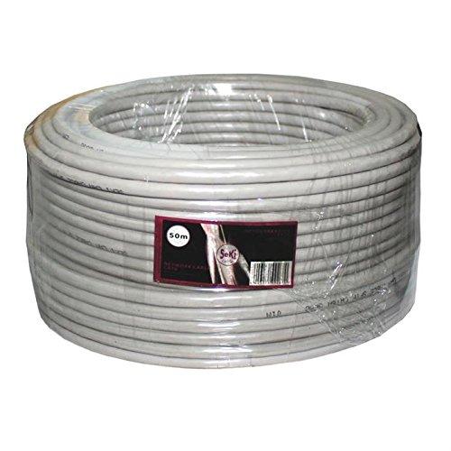 Netzwerkkabel CAT6 50m ; S/FTP PIMF ; CAT6 LAN Ethernet Kabel Verlegekabel