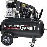 Gambit Tools Profi Kompressor G 600/90/10 3kw 10 bar 90 Liter fahrbar Werkstatt Industrie...