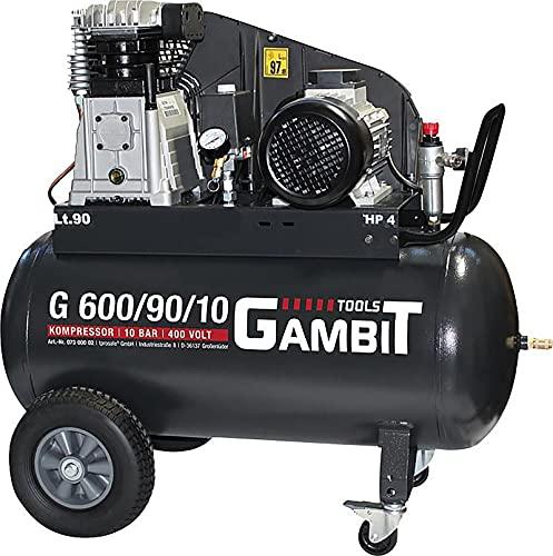 Gambit Tools Profi Kompressor G 600/90/10 3kw 10 bar 90 Liter fahrbar Werkstatt Industrie Industriequalität