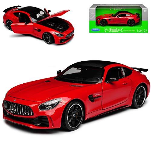 Mercedes-Benz AMG GT R Coupe Rot Ab 2014 1/24 Welly Modell Auto mit individiuellem Wunschkennzeichen