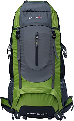 XTTCCDDBB Sac d'alpinisme d'extérieur 60l de Grande capacité, Sac à Dos léger, adapté aux Hommes et aux Femmes, Vert