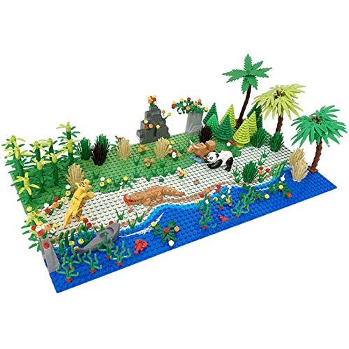 WANBAO Kids Toys Bloques de construcción de Placa de Base con Selva Tropical Paisaje de Selva Compatible con Lego y 100% de Otras Marcas de Ladrillos