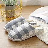 Zapatillas Casa Hombre Mujer Hombres Mujeres Zapatillas Pareja Cálido Otoño E Invierno Zapatillas De Algodón Zapatillas De Casa Zapatos-Light_Blue_45