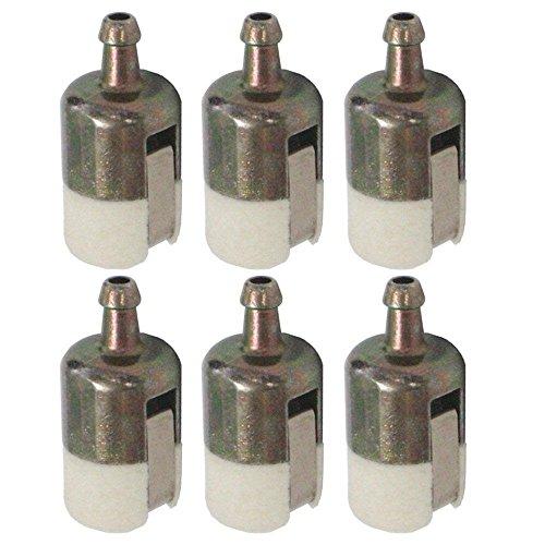 125 527 Filtro de combustible corporal 13120507320 13120519830 para Walbro Echo String Trimmer/Edger/Mochila Blower (Pack de 6)