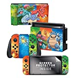 Controller Gear Nintendo Switch Skin & Screen Protector Set - Pokemon - Kanto Evolutions Set 1 - Nintendo Switch