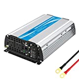 1200Watt Power Inverter 12V DC to 110V 120V AC with 20A Solar Charge Controller Remote Control Dual AC Outlets & USB Port for RV...