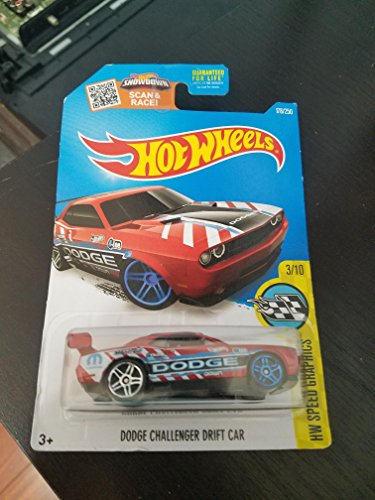 Hot Wheels, 2016 HW Speed Graphics, Dodge Challenger Drift Car [Red] Die-Cast Vehicle #178/250