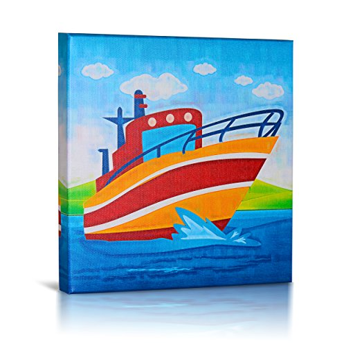 Green Frog Canvas Gallery Wrapped Art Decor, Bon Voyage by Green Frog