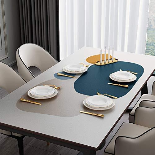 Mantel Rectangular De PVC Impermeable Y A Prueba De Aceite Mantel De Vinilo Grueso Cubierta De Mesa De Limpieza Al Aire Libre Jardín De Restaurante Ensayo 07 90*180cm