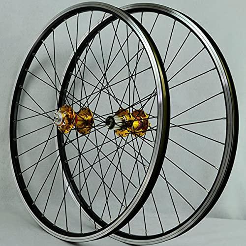 VDSOIUTYHFV Bicicleta Delantera Rueda Trasera Llantas De Aleación Ultraligera De Doble Pared Disco De Freno Lanzamiento Rápido Palin Teniendo 7-12 Velocidad