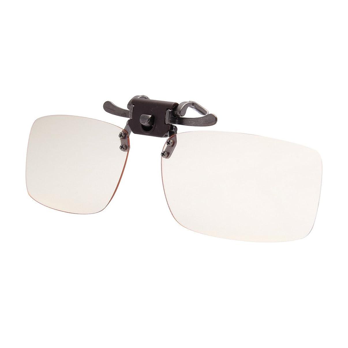 LianSan Tinted Blue Light Blocking Computer Glasses Clip On for Myopic Lens Gaming Eyeglasses Anti Glare Eye Strain Non Prescription Readers LSP6260 yellow