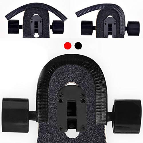 Acoser Skateboard Deck Longboard Nasenschutz Gummi Streifen Kantenschutz Der Perfekte Schutz Für Dein Deck Geeignet Für Jungen Und Mädchen (Schwarz)