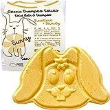 doccia shampoo solido bimbi biscottoso - bunny - con olio di cocco, olio di mandorle, amido di riso bio e vitamina e - idrata la pelle e districa i capelli - equivale a 650 ml