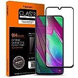 Spigen, 1Pack, Cristal Templado Compatible con Samsung Galaxy A40, [Caso amistoso], 3D Cobertura Completa, Anti-Burbuja, Anti-Scratch, Protector Pantalla para Galaxy A40 (618GL27302)