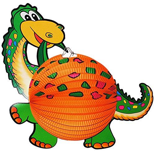 alles-meine.de GmbH 1 Stück: Papier Laterne / Lampion - Dinosaurier Dino - für Kinder Papierlaterne - Laternen Lampions - Bunte Dinos - für Laternenumzug - Mädchen Jungen