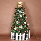LSDRALOBPOI Arbol de Navidad Grande Moderno Christmas Tree Decoraciones de árboles de Navidad Artificiales con Soporte de Metal Verde 816(Color:Green;Size:10ft/300cm)