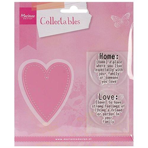 Marianne Design Collectables Love - Stempel und Stanzschablone für die Kartengestaltung und Scrapbooking, Metal, pink, 5.5 x 6.8 x 0.4 cm