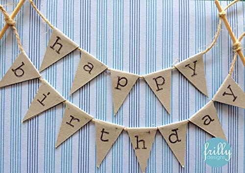 Happy Birthday Topper Kuchenwimpel Girlande personalisierbar