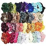 Alaso Lot de 40 chouchous en velours élastique Elastiques Chouchou Cheveux Ties Cordes Chouchou pour femme ou filles Accessoires Cheveux