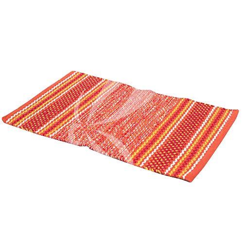 R.P. Alfombra de algodón pesado cocina lavandería multiusos Giovanna – 50 x 120 cm – Naranja