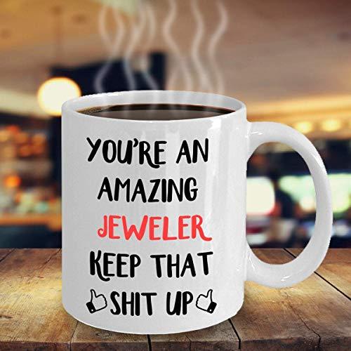 N\A Juwelier Geschenk, Becher für Juwelier, Juwelier Becher, Geschenk für Juwelier, Lustige Juwelier Geschenke Einzigartiges Geschenk Neuheit Keramik Kaffeetasse Teetasse
