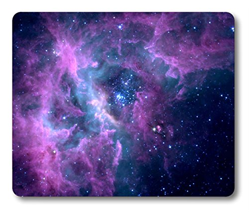 Smooffly Mouse Pad Purple Galaxy Customized Rectangle Non-Slip Rubber Mousepad Gaming Mouse Pad Mat