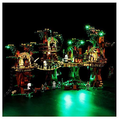 K99 Iluminación de Bloques de construcción LED, Compatible con Lego 10236 Ewok Bear Village Star Wars Series, Conjunto de enchufes de iluminación DIY (sin incluir Bloques)