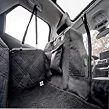 ANITECH Housse Siège de Voiture pour Chien 【Garantie 10 Ans】- Qualité 900D Premium - Waterproof et Antidérapante avec Fenêtre - Protection Totale Banquette Arrière avec Couverture (137*147cm) / (Noir)
