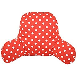 Bright read reading pillow dotted pattern for kids, toddlers, girls, boys, teens, small size