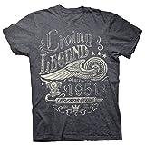 ShirtInvaders 70th Birthday Shirt for Men - Living Legend 1951 Legends Never Die - Dk. Heather-2X