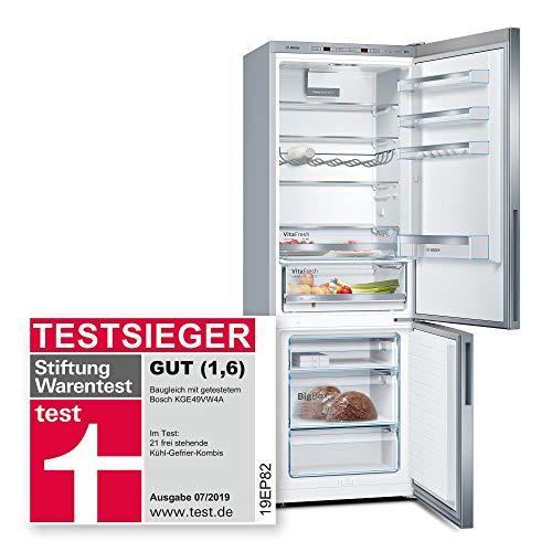 Bosch Serie 4 KGE49VI4A Libera installazione 412L A+++ Cromo frigorifero con congelatore