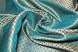 TheFabricFactory Brokat-Stoff mit Kingfisher-Motiv, Blau /