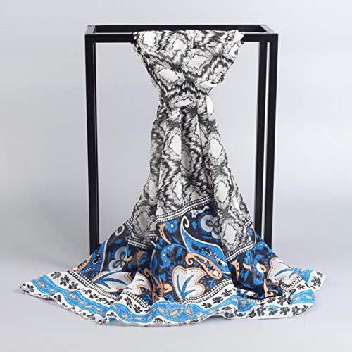 MYTJG Lady Sjaal Art- en modieuze damesjaal lange hak-zachte verpakking dame scarf shawl youth stijl patroon chiffon - sjaal delicate soft