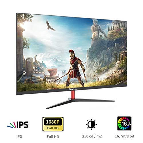 23.8Zoll Gaming Monitore Full HD (1920 x 1080), IPS Panel,60 Hz,mit HDMI- und VGA-Schnittstelle Moniter, für PS3 / PS4 / Xbox Computer PC, Prechen