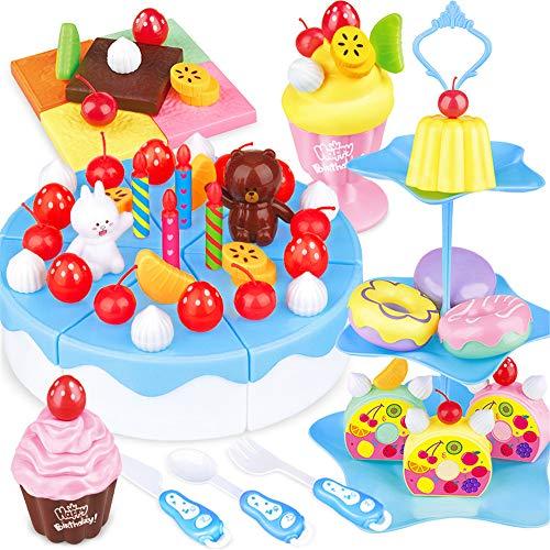 YBWEN Dart Board Kinder schneiden Obst Spielzeug Spielen Küche Kombination Gemüse geschnitten Baby Jungen und Mädchen und Kuchen Anzug für Kinder Dartscheiben (Farbe : Blau)