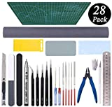 Gundam Tools Kit Esoca 28Pcs Gunpla Tools Gundam Model Kit Tool Bandai Tool Kit Gundam Modeler Basic Tools Craft Set for Gundam Model Building Repairing and Fixing