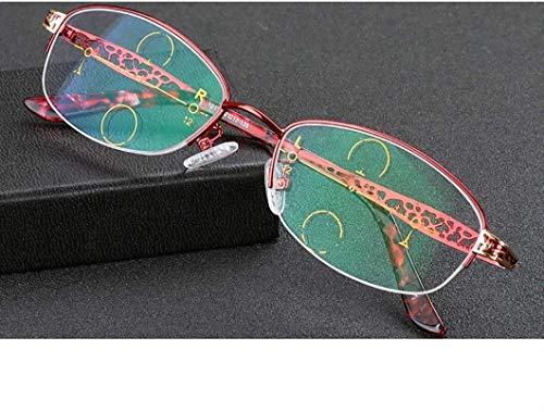 Gafas de lectura Fotocrómico gafas de lectura, Progresivo Multi-Enfoque de lectura Gafas, contra los rayos UV multifocales progresivas Lentes de dioptrías de teléfono, cerca de Far doble uso lectura g