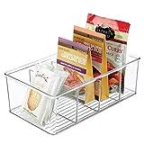 mDesign Aufbewahrungsbox - stapelbarer Kasten mit vier Fächern