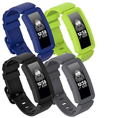 GVFM kompatibel mit Fitbit Ace 2 Bands für Kinder ab 6 Jahren, weiches Silikon, wasserdicht, Sport-Armband für Jungen und Mädchen, Armbänder kompatibel mit Fitbit Ace 2