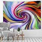 LizaCheng Color Swirl Pattern Impreso Tapicería Tapicura Colgante Nórdico Hogar Tela Colgante Pintura Manta Playa Toalla India Datura Tapicería 59x78inch Polyester