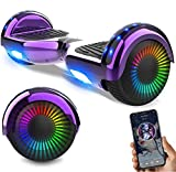 NEOMOTION Hoverboard Scooter da 6,5 ​​Pollici con Bluetooth LED Flash Scooter...