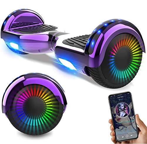 NEOMOTION Hoverboard Scooter da 6,5 ​​Pollici con Bluetooth LED Flash Scooter Elettrico con...