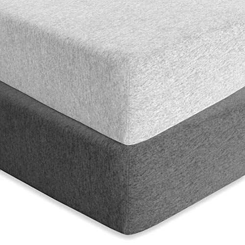Why Choose Cuddly Cubs Baby Fitted Crib Mattress Sheets 2 Pack Toddler Bed Sheets | Heather Grey Cri...