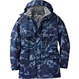 Boulder Creek by Kingsize Men's Big & Tall Expedition Parka Coat - Big - 3XL, Navy Camo
