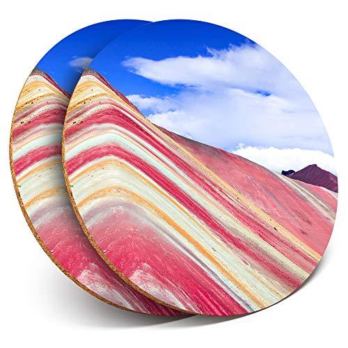 Destination Vinyl ltd - Posavasos (2 Unidades), diseño de montaña arcoíris