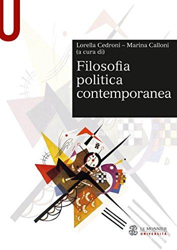 FILOSOFIA POLITICA CONTEMPORANEA FILOSOFIA POLITICA CONTEMPORANEA (Sintesi)