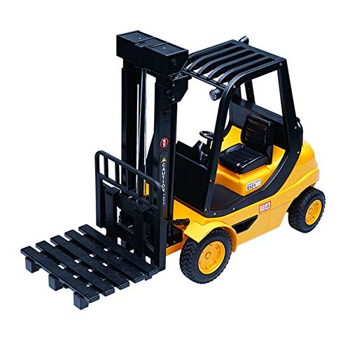 Hging Simulation Engineering Vehicle Charging Electric Remote Control Forklift Automatic Toy 1:8 Remote Control Forklift Boy Gift Crane Truck Mobile Construction Toys Best Gift For Kids