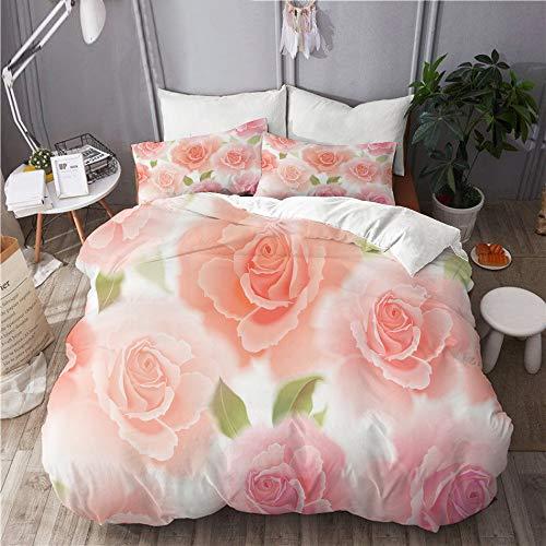 MUYIXUAN Bedding Bettwäsche-Set 3 Teilig mit Reißverschluss grob umrissene Weltkarte weißen Hintergrund (135x200cm) und 2*Kissenbezuge(50x80cm)