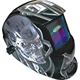 Leopard Large View, Solar & Battery Powered, DIN9~13 Shade, Auto Darking   Grinding Function <span class='highlight'>Welding</span> Helmet {Metal} Safety Gear